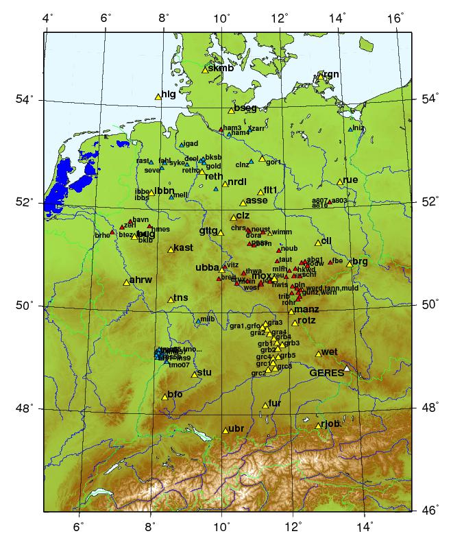 Erdbeben Deutschland Karte.Bgr Stationsnetze